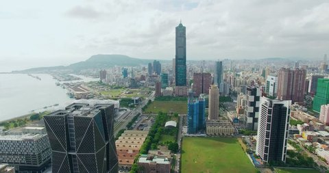 Aerial view of the city in Kaohsiung - Taiwan