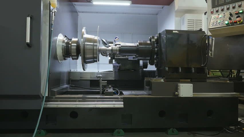 Metal Spinning machine shaping a peace of metal   Shutterstock HD Video #17051218