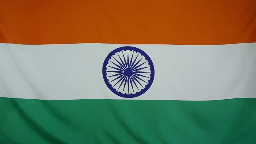 Indian Animated Flag Waving: Flag Of India Waving With Realistic Cloth Texture