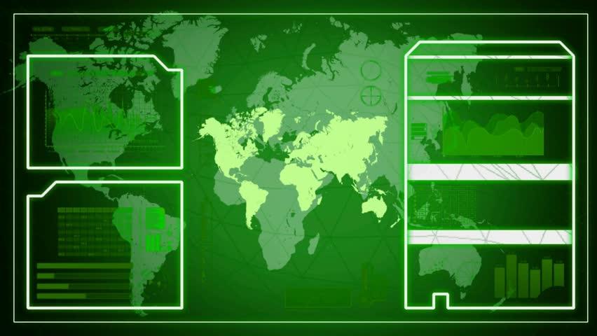 Interface scanning world | Shutterstock HD Video #17273338