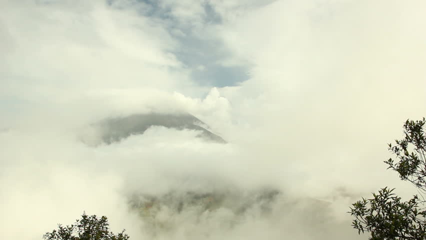 Clouds over the summit of Tungurahua Volcano, Ecuador