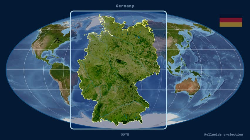 Zoomedin View Of A Germany Outline With Perspective Lines Against - Germany physical map