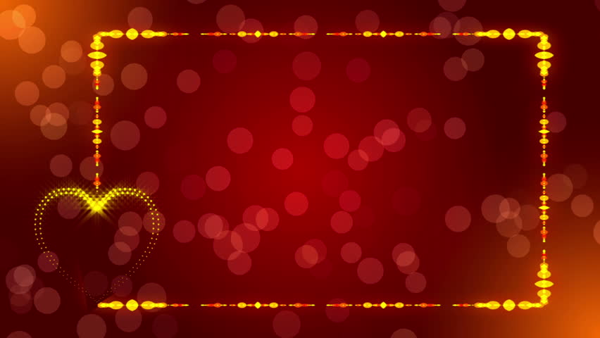 Red Abstract Background Frame Loop Stock Footage Video