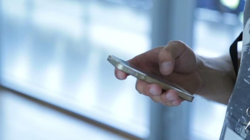 Businessman or executive man hands using smartphone | Shutterstock HD Video #17314708