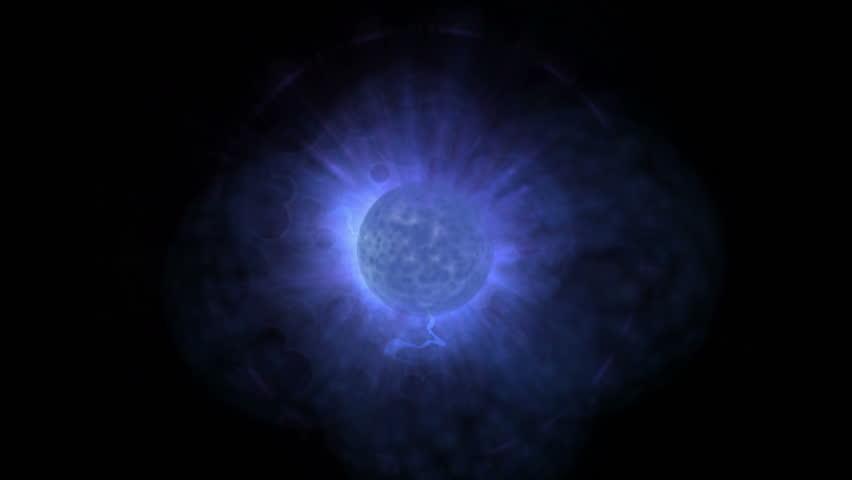 4k Fire flame stellar explosion rays laser energy,magic fireball energy gas burn,radiation particles. 4848_4k #17335438