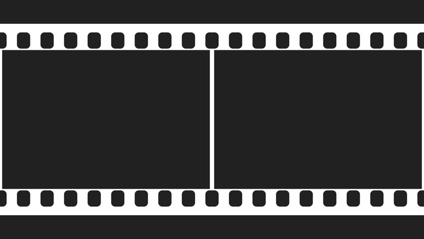 35mm film strip moveing on black background. seamless loopable, Powerpoint templates