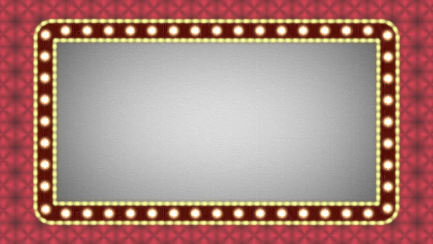Flashing Lights Movie Sign Stock Footage Video 100 Royalty Free
