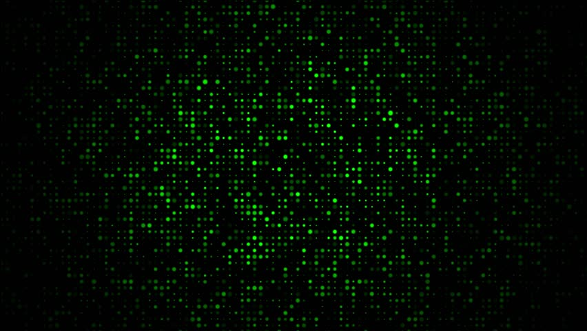 Pulsating green dots on black background | Shutterstock HD Video #17413288