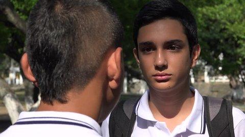 Teens Arguing Or Fighting