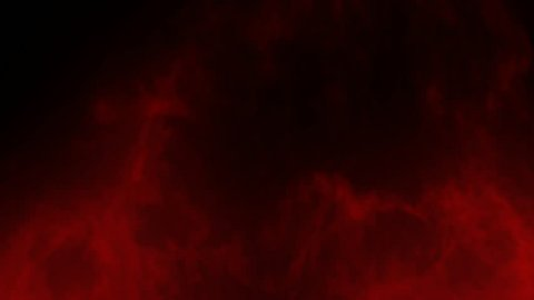 Animated glowing red smoke or gas rising slowly against transparent background 2 in 4k. Alpha channel embedded with 4k PNG file.