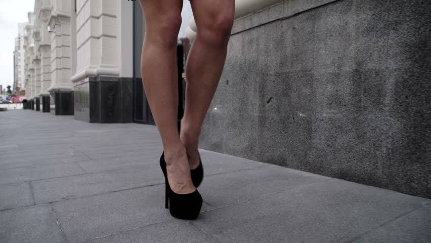 Legs high heels street