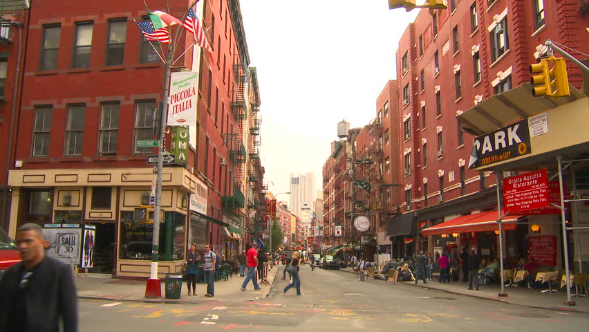 NEW YORK, NY - CIRCA 2010: Mulberry Street in New York's Little Italy