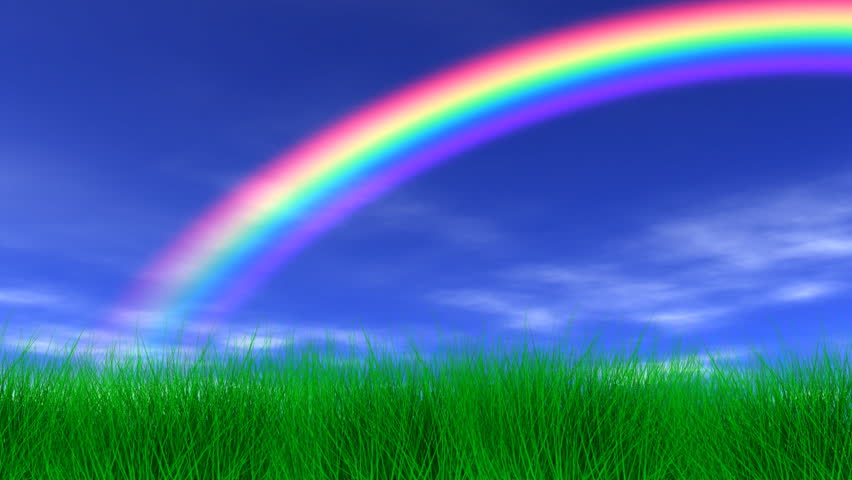 blue cloud with rainbow wallpaper - photo #27