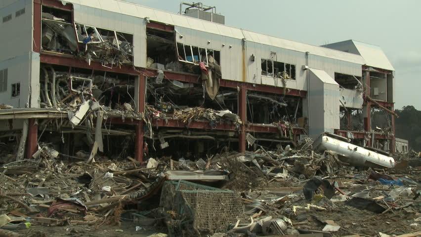 Damage To Building After Japan Tsunami