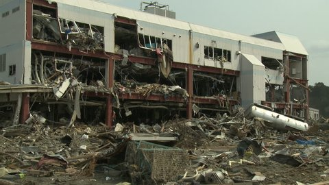 Damage To Building After Japan Tsunami