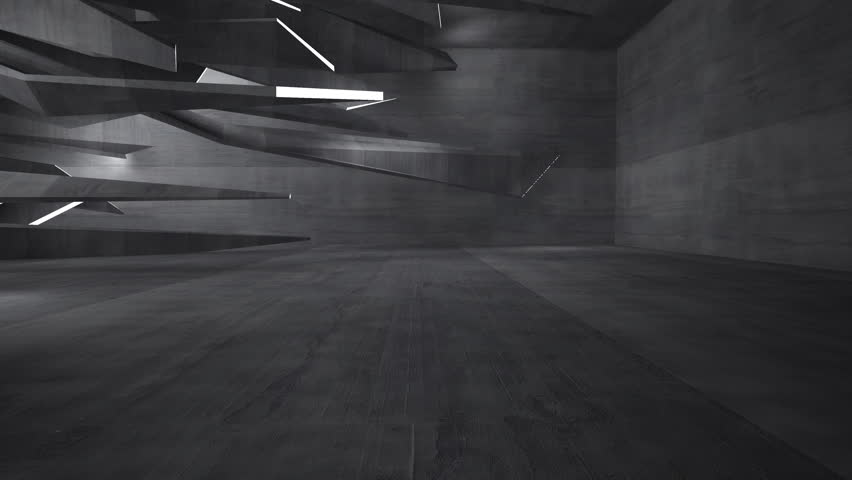 Empty Dark Abstract Concrete Room Interior Architectural