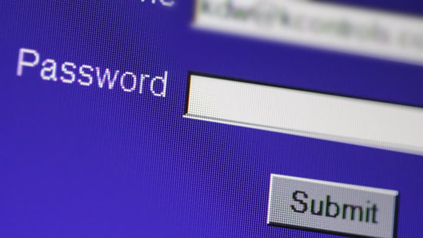Typing password on computer