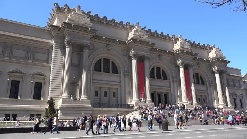 NEW YORK CITY, - APRIL 17: Main building of the Metropolitan Museum of Art. April 17, 2016 in NYC, New York, USA