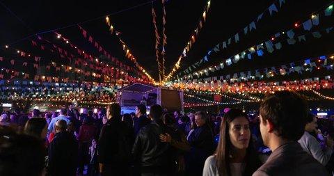 SAO PAULO, BRAZIL - CIRCA JUNE 2015: Tradicional Junina Party (Festa Junina) in Sao Paulo, Brazil.