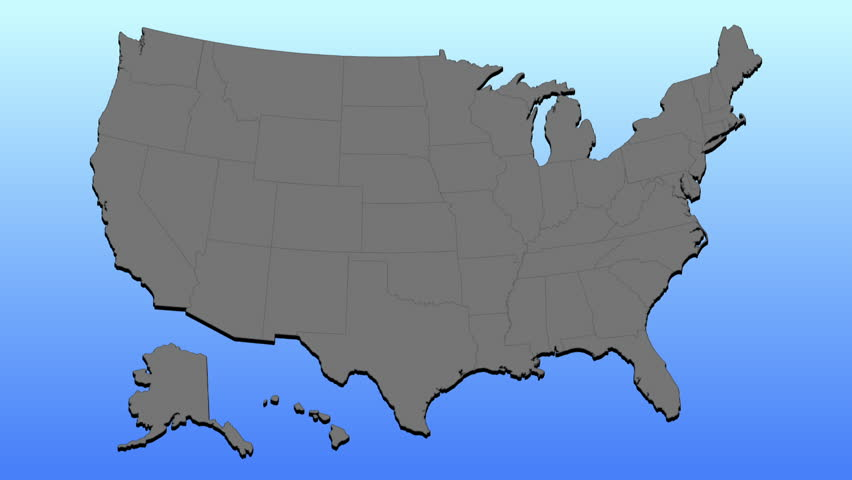 UNITED STATES Ss  People Enter And Exit Various - Us map showing exits