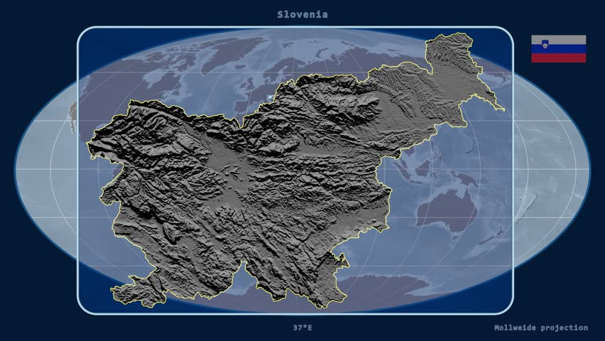Slovenia Map Zooming Into Slovenia On The Globe Stock Footage - Slovenia map hd
