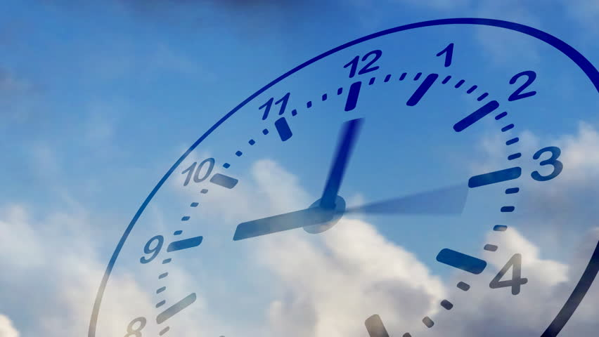 Time Flies Clock In Sky