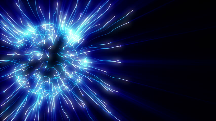 Abstract blue plasma sphere