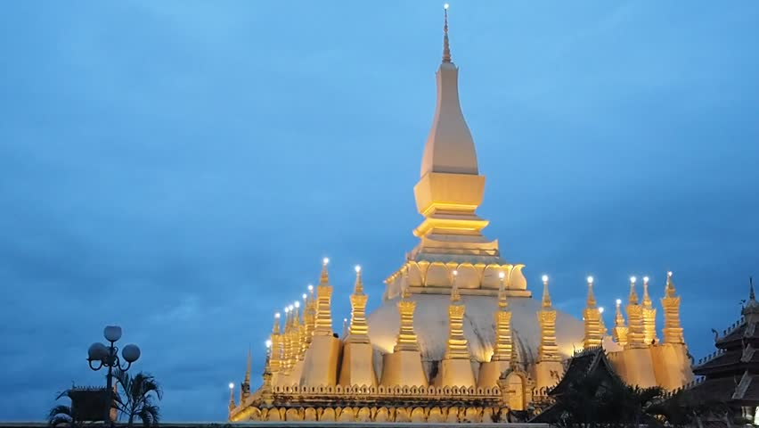Pha that luang Vientiane Laos  | Shutterstock HD Video #17729308