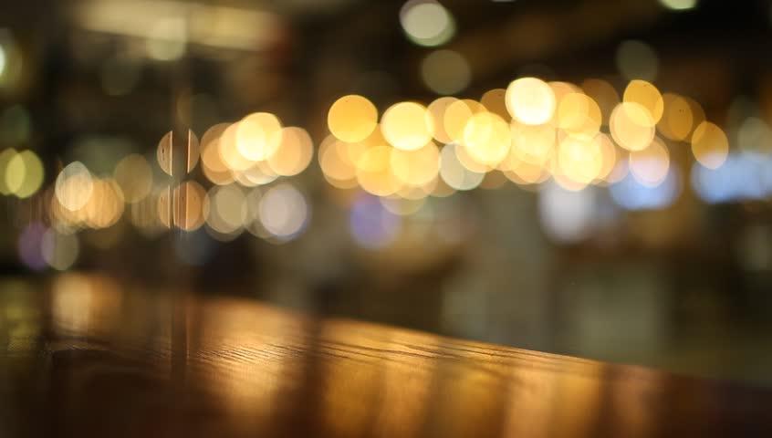 Blurred Restaurant Background Stock Footage Video 12047117