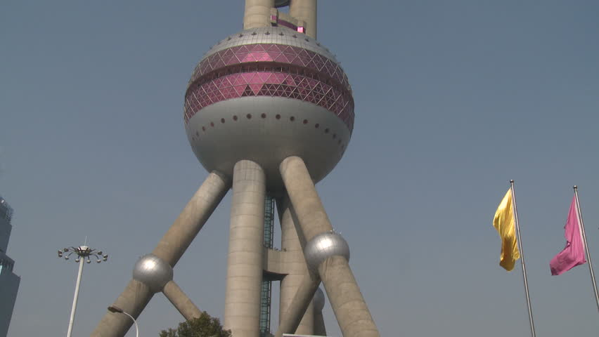 Pearl Of Orient TV Tower In Shanghai China