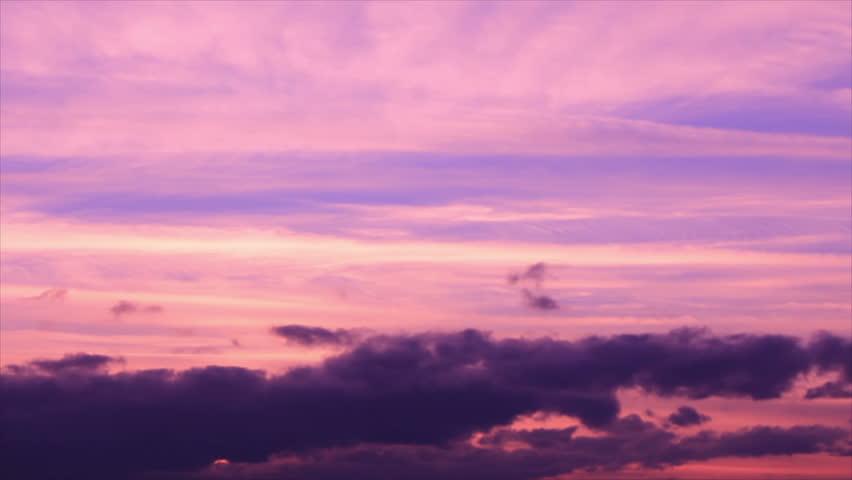 Dark Clouds On Purple Colored Twilight Sky Stock Footage Video 21036811 | Shutterstock