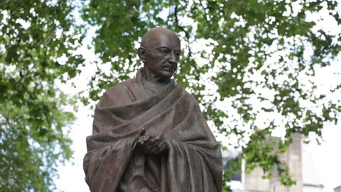 Statue of Mahatma Gandhi on Parliament square, London