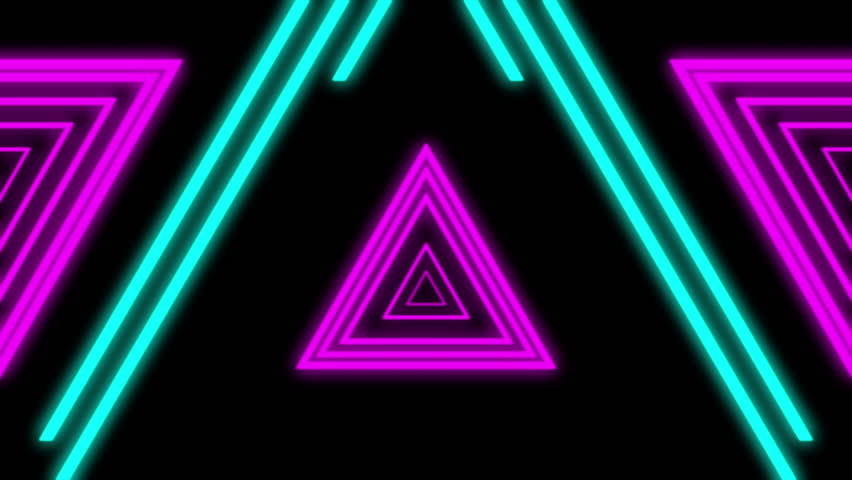 Neon lights vintage tunnel loop 1080p neon lights for Define house music