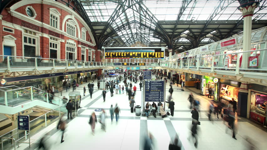 Liverpool Street Station at Rush Hour, London | Shutterstock Video #17867353