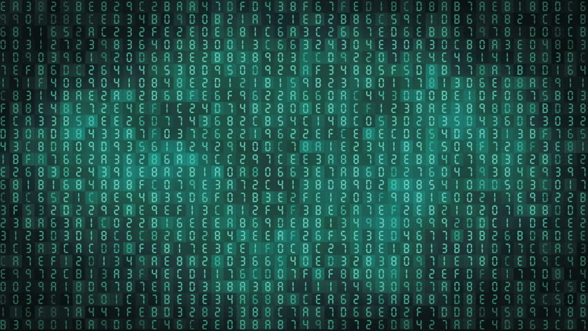Hexadecimal computer code numbers background