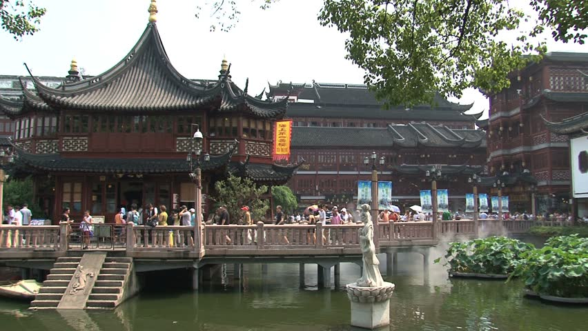 SHANGHAI, CHINA   CIRCA AUGUST 2011: Tea House In Yuyuan Garden Stock  Footage Video 1791398 | Shutterstock