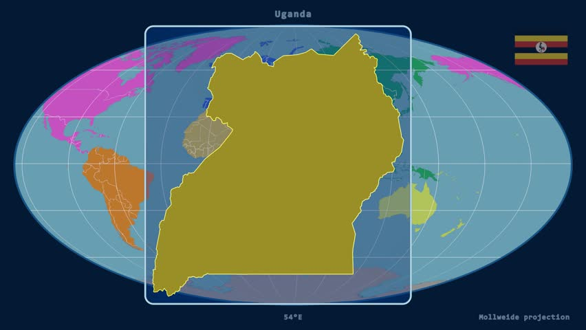 Zoomedin View Of A Uganda Outline With Perspective Lines Against - Uganda map hd