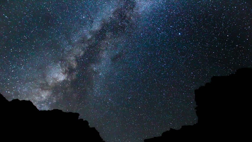 Star Time Lapse, Milky Way Galaxy at Night