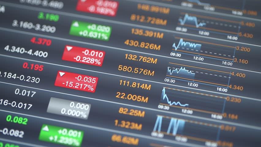 Digital Tablet with stock market data | Shutterstock HD Video #18018130