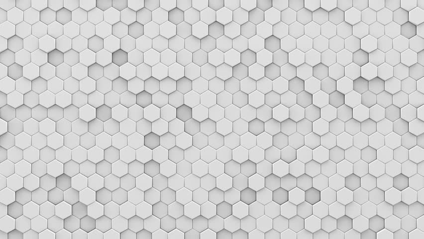 white hexagonal hi