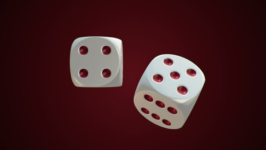 Animation of rotation two dice for casino or different games of chance. Animation of seamless loop. | Shutterstock HD Video #18041956