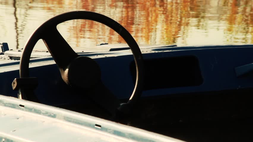 Boat's steering wheel