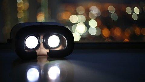 Movie playing inside virtual reality device
