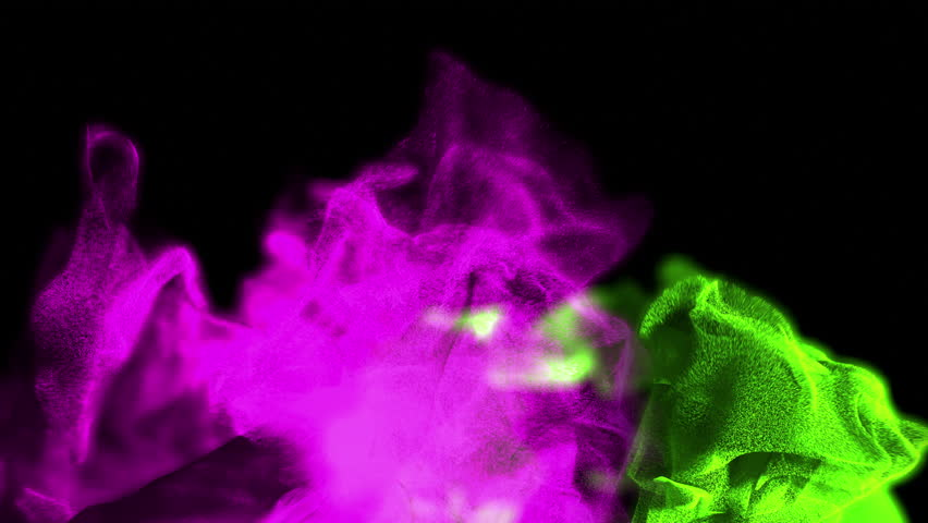Abstract colorful splashes of particles, 3D animation, looping | Shutterstock HD Video #18104818