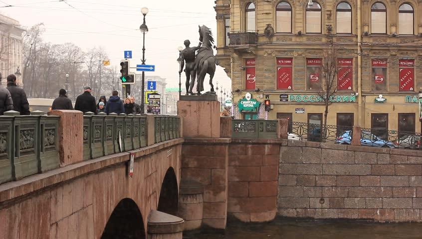 аничков мост ход строительства фото капитан разлив металлов