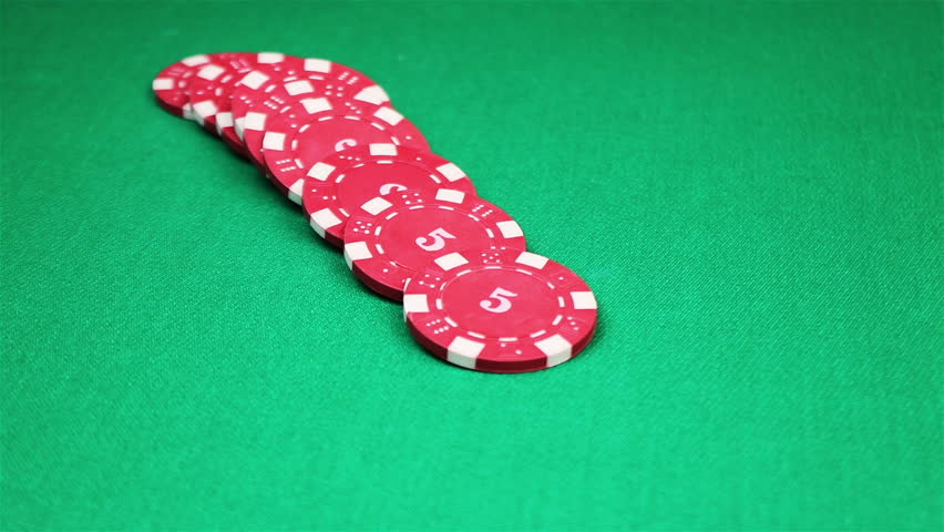 Many poker chips falling on green casino table | Shutterstock HD Video #18176908