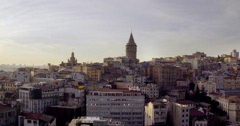 4K Turkey,  istanbul, Bosphorus City Galata Tower -86