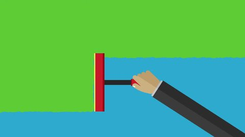 Nice animation of a hand holding squeegee and cleaning the screen to change  between two placeholders very easy to change colors with your photos, text,  or your logo  glass cleaning transition loop