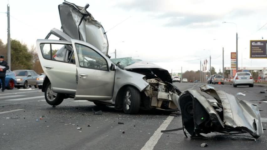 Medium shot deadly car crash   Shutterstock HD Video #18221212