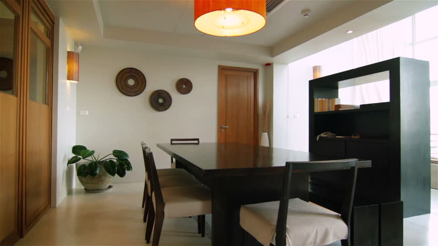 Luxury Apartment Interior. Tracking shot of a luxury living room.